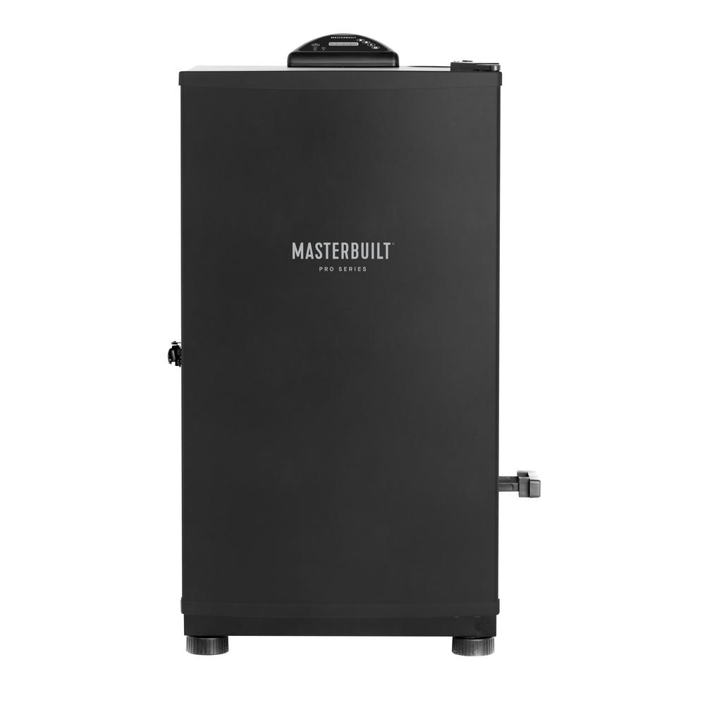 Masterbuilt Pro Mes 130B Digital Electric Smoker With this Masterbuilt Digital Electric Smoker you will achieve competition-ready results in your own backyard. The Pro Series MES 130B has a patented side wood chip loading system and 4-chrome-coated smoking racks. Simply plug this smoker in, set the digital controls, and it does the work. Master the art of smoking with Masterbuilt.