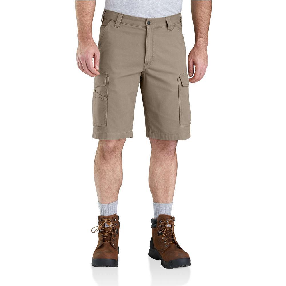 bd02c24b04b9 Carhartt Men's Regular 30 Tan Cotton Shorts-B144-TAN - The Home Depot