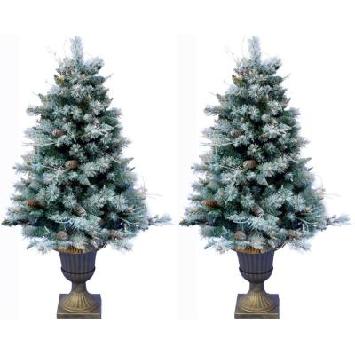 Frosted Porch Accent Tree, Green (Set of 2)