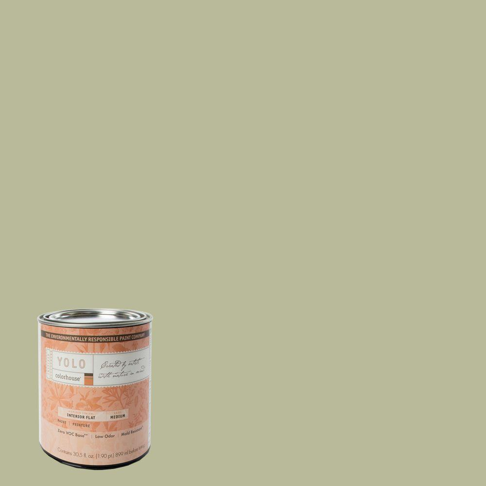 YOLO Colorhouse 1-Qt. Glass .03 Flat Interior Paint-DISCONTINUED