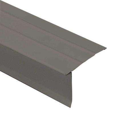 3 in. x 2 in. x 10 ft. Galvanized Steel Eave Drip Flashing in Weathered Wood