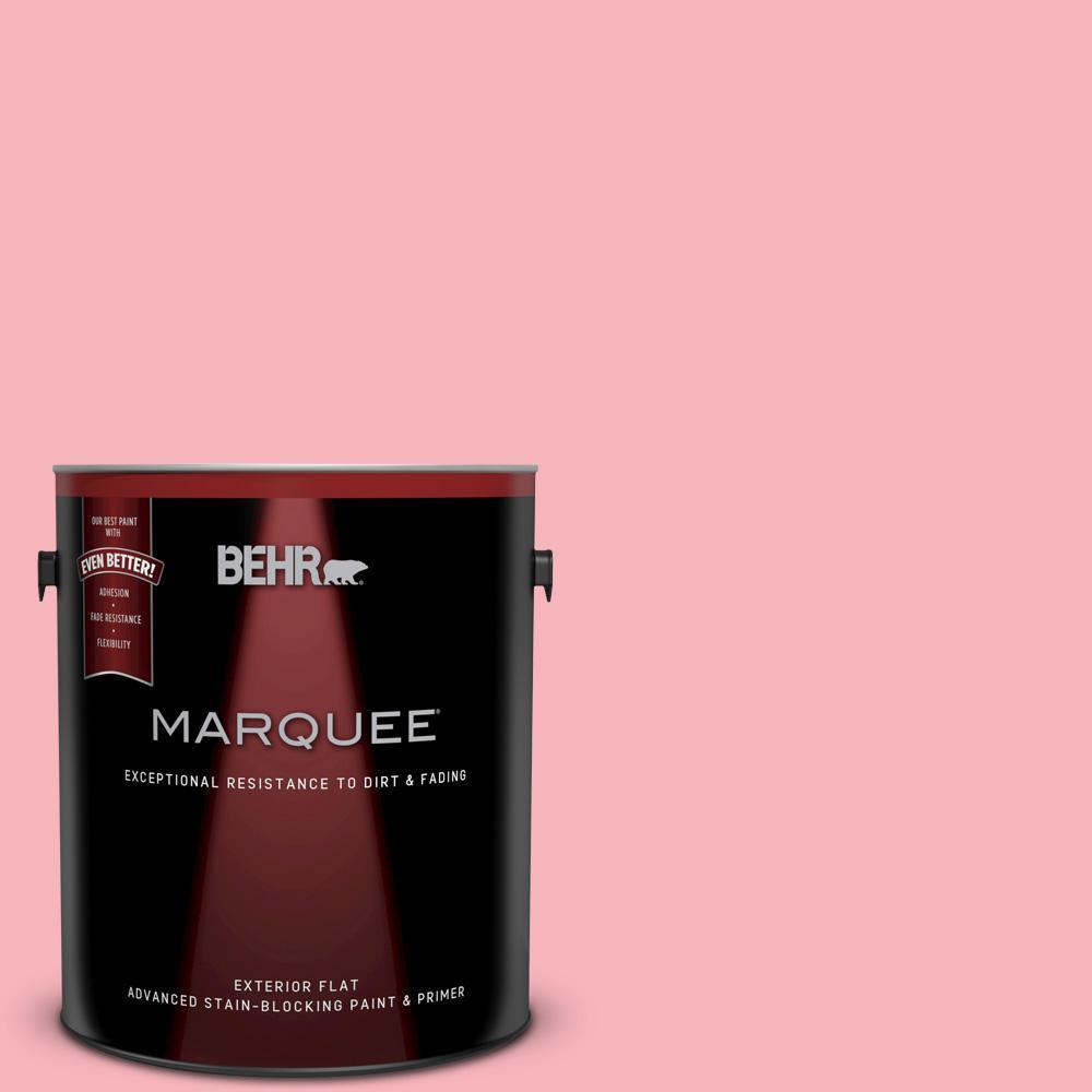 BEHR MARQUEE 1-gal. #130A-3 Ballerina Pink Flat Exterior Paint ...
