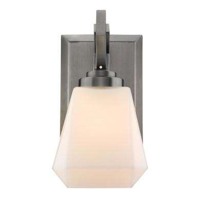Hollis 1-Light Aged Steel Bath Light