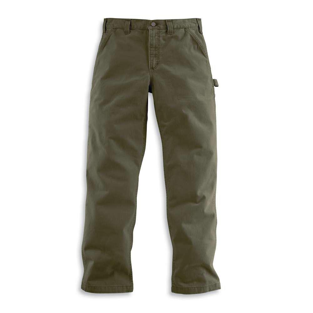 Carhartt Men's 36x32 Army Green Cotton Straight Leg Non-Denim Bottoms