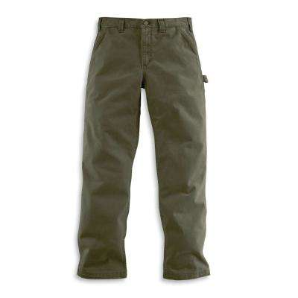 Men's 36x32 Army Green Cotton Straight Leg Non-Denim Bottoms