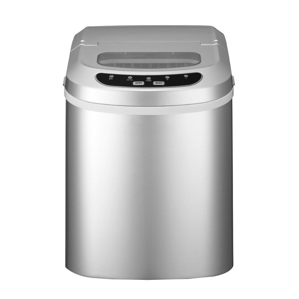 Magic Chef 27 lb. Portable Countertop Ice Maker in Silver-HNIM27SV - The Home Depot