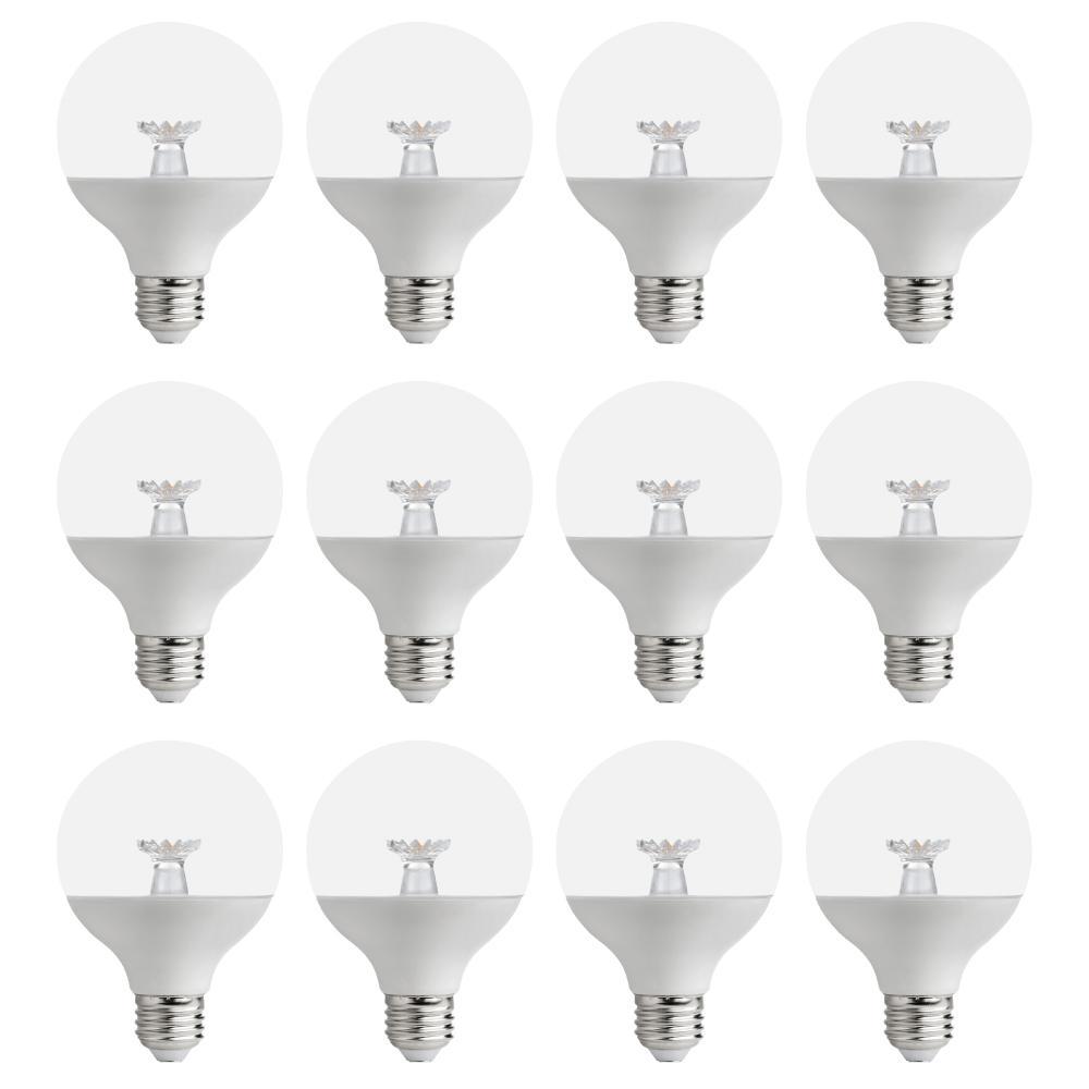 EcoSmart 60-Watt Equivalent G25 Dimmable Clear LED Light Bulb