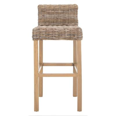 Cypress 29.5 in. Antique Gray Bar Stool