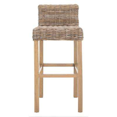 Cypress 29 5 In Antique Gray Bar Stool