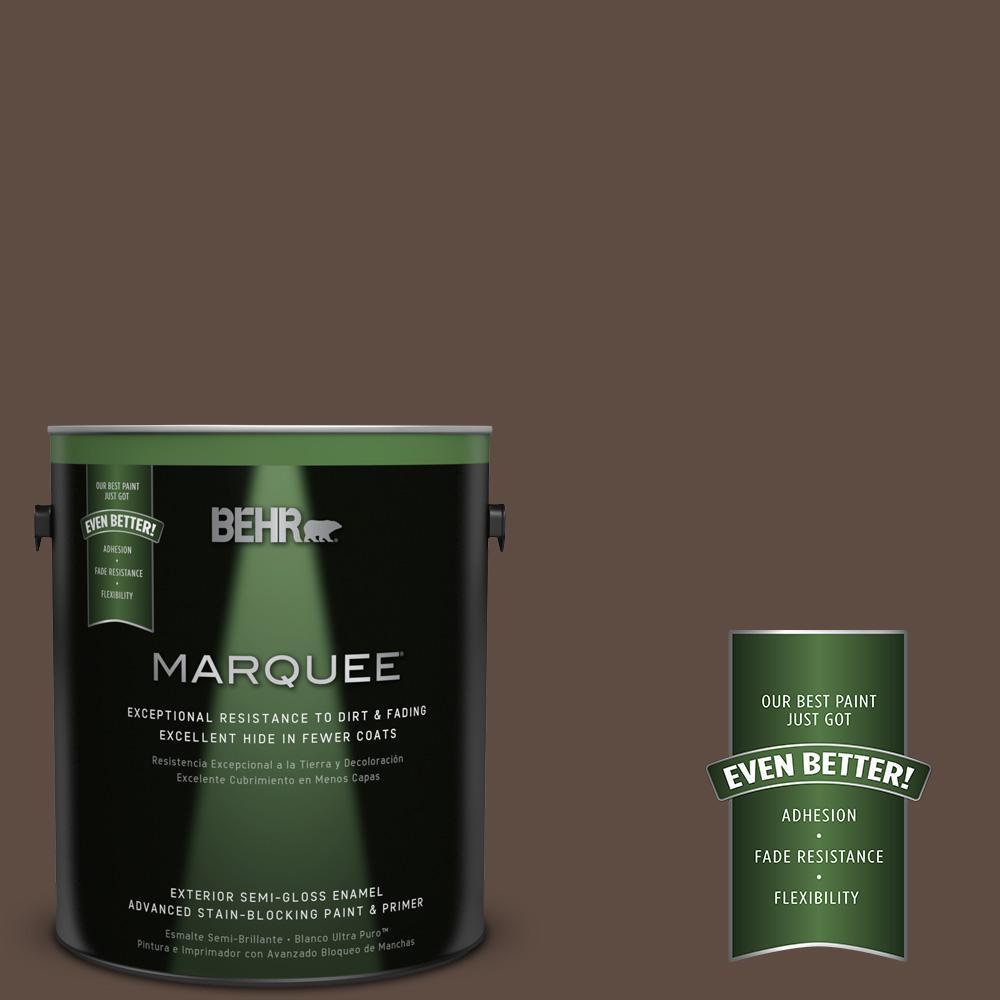BEHR MARQUEE 1-gal. #UL130-2 Roasted Nuts Semi-Gloss Enamel Exterior Paint