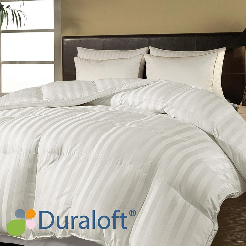 Down Alternative 500 Thread CountCotton Damask Stripe King Comforter