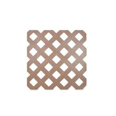 0.125 in. x 48 in. x 8 ft . Acorn Brown Privacy Plastic Lattice (2-Pack)