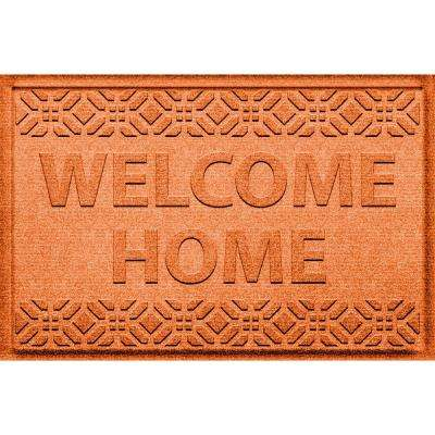 Welcome Home Orange 24 in. x 36 in. Polypropylene Door Mat