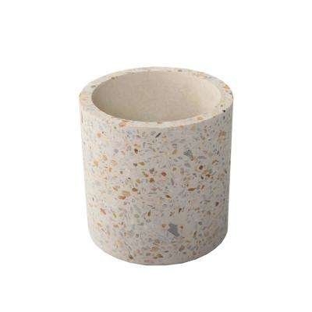 4 in. Terrazzo Pot Concrete Stoneware Planter