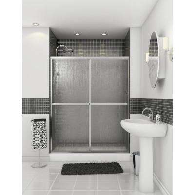 Atwater 54 in. - 59.5 in. x 68 in. Framed Sliding Shower Door in Chrome