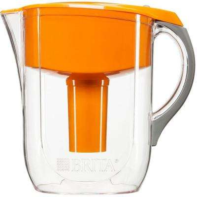 10-Cup Filtered Water Pitcher in Orange