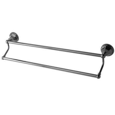 Onyx 24 in. Double Towel Bar in Black Stainless Steel