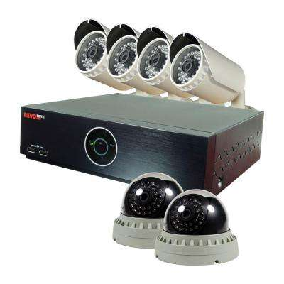 Elite HD 8-Channel 1080P 2TB NVR Surveillance System with (6) 2.1 Megapixel HD Cameras