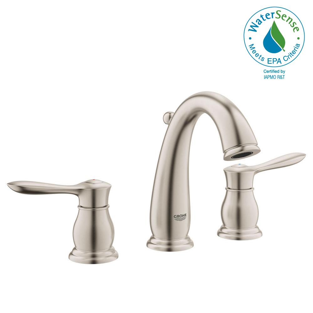 Grohe Parkfield 8 In Widespread 2 Handle 1 Gpm Bathroom Faucet Brushed Nickel