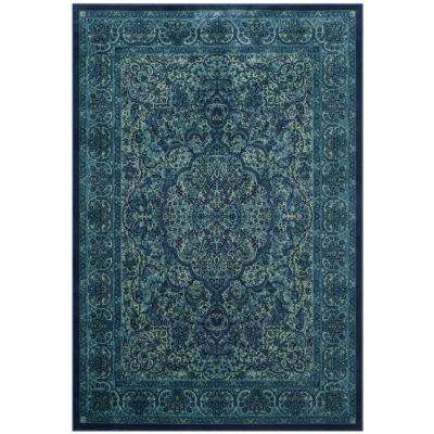 Paradise Blue/Multi 4 ft. x 5 ft. 7 in. Area Rug