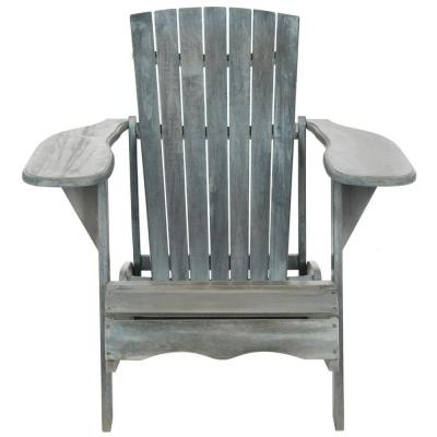Mopani Ash Gray Wood Adirondack Chair