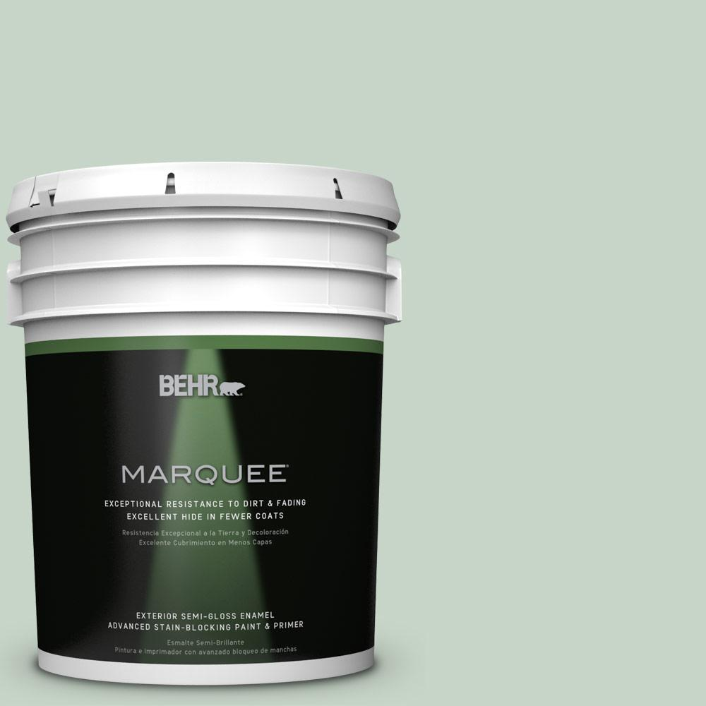 5-gal. #S410-2 New Moss Semi-Gloss Enamel Exterior Paint