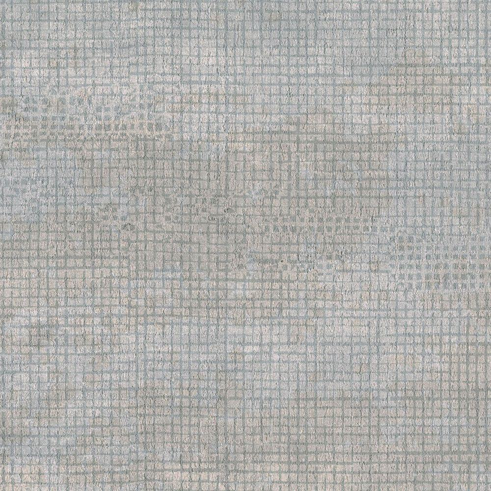Brewster Grey Grid Texture Wallpaper Sample 3097 56sam