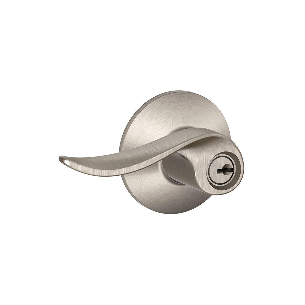 Schlage Sacramento Satin Nickel Keyed Entry Lock Lever
