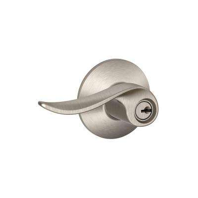 Sacramento Satin Nickel Keyed Entry Door Lever