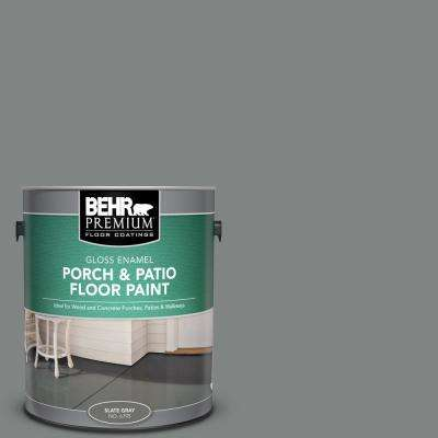 1 gal. #PFC-63 Slate Gray Gloss Enamel Interior/Exterior Porch and Patio Floor Paint