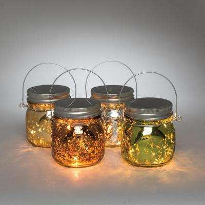 Mercury Glass 4-Color Battery Operated Lantern (4-Pack)