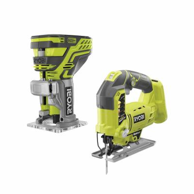 18-Volt ONE+ Lithium-Ion Cordless Fixed Base Trim Router w/Tool Free Depth Adjustment and Orbital Jig Saw (Tools Only)