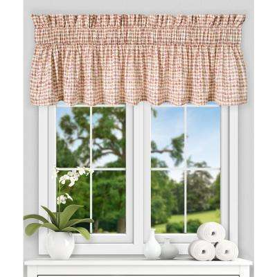 Davins 15 in. L Cotton Twill Tailored Valance in Clay