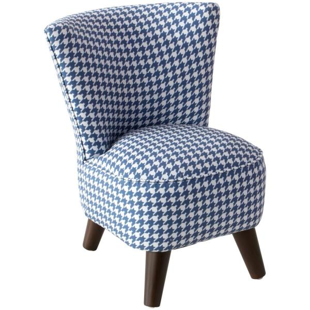 Skyline Furniture Chunky Houndstooth Navy Kid'S Modern Chair 99-1KCHHNDSNVYO