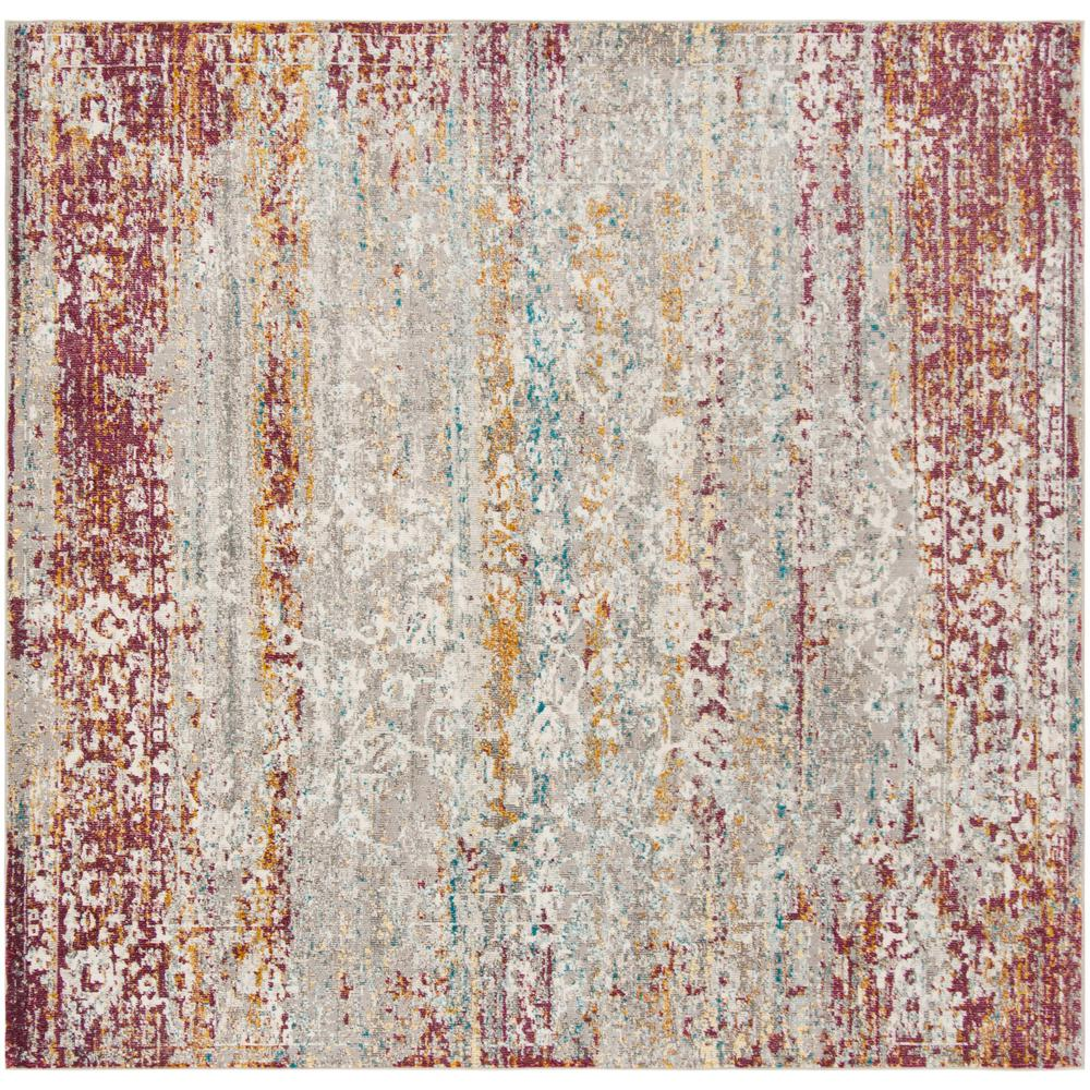 Safavieh Aria Red Cream 6 Ft X 6 Ft Square Area Rug Ara156r 6sq