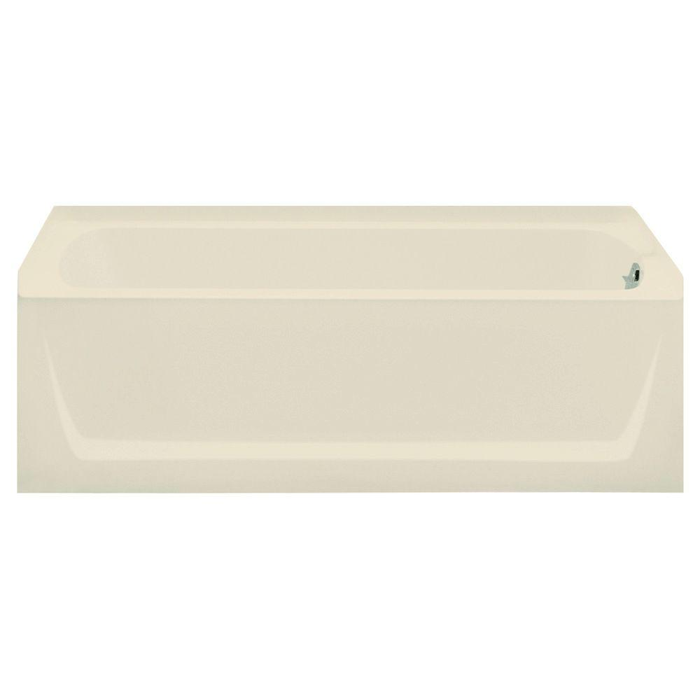 null Ensemble 5 ft. Right Drain Soaking Tub in Almond