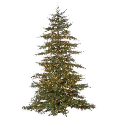 7.5 ft. Pre-Lit LED Natural Cut Monaco Pine Artificial Christmas Tree with Micro Lights