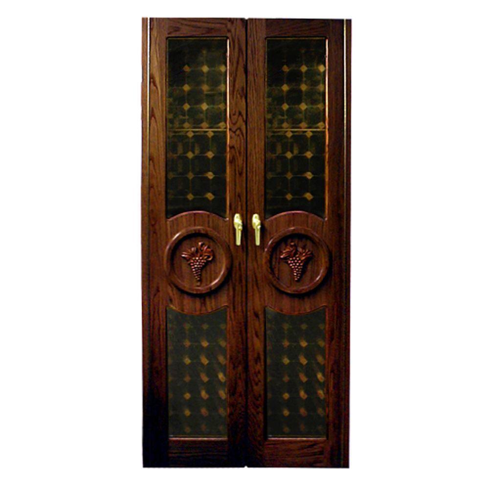 Vinotemp 440 Concord Two Grape Motif Glass Doors Llf Vino