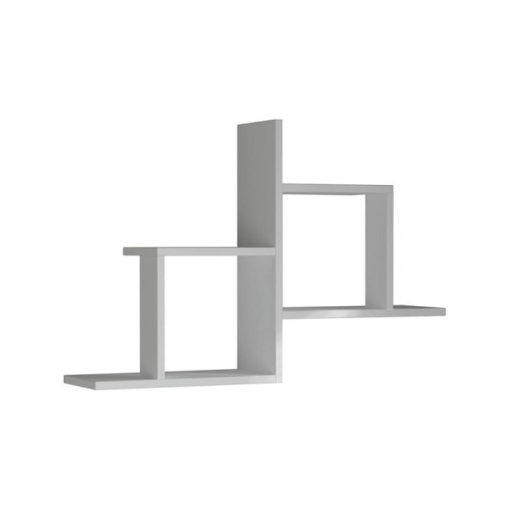 Ada Home Decor Webb White Mid-Century Modern Wall Shelf