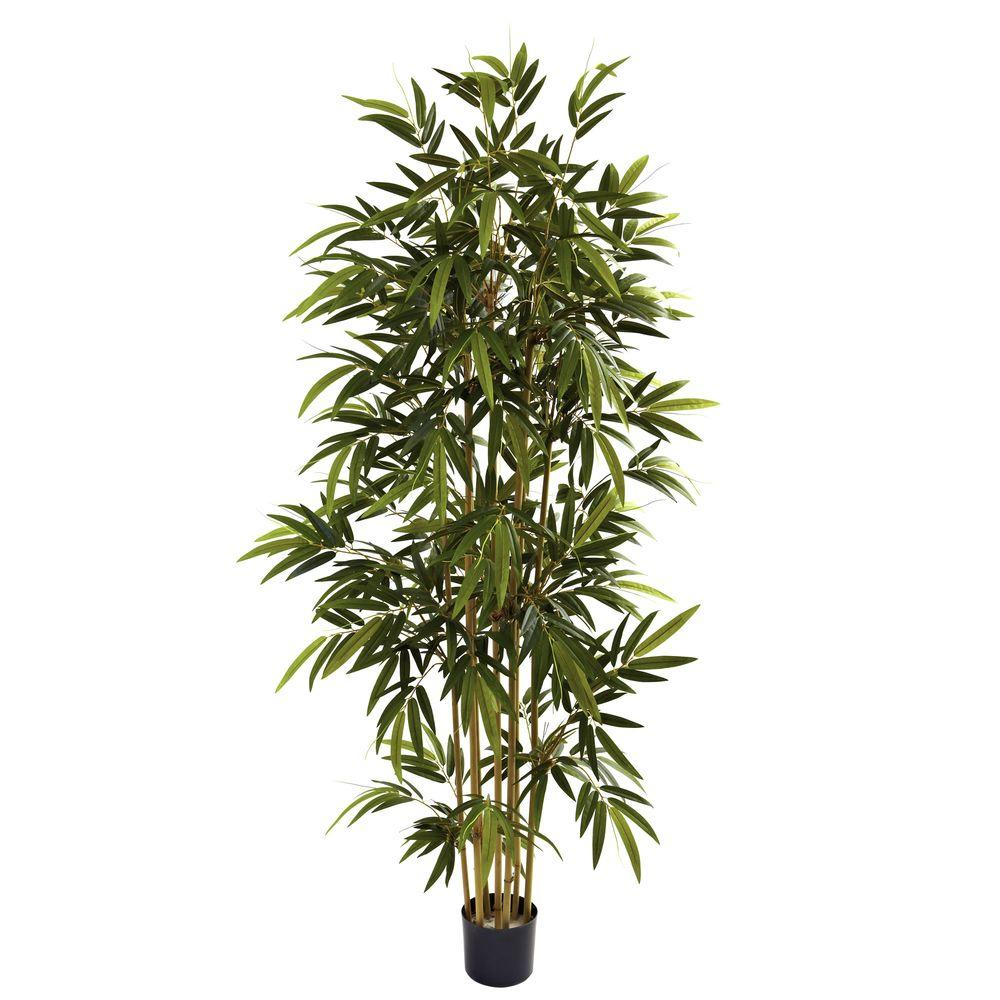 laura ashley 6 ft. tall realistic silk bamboo tree with wicker