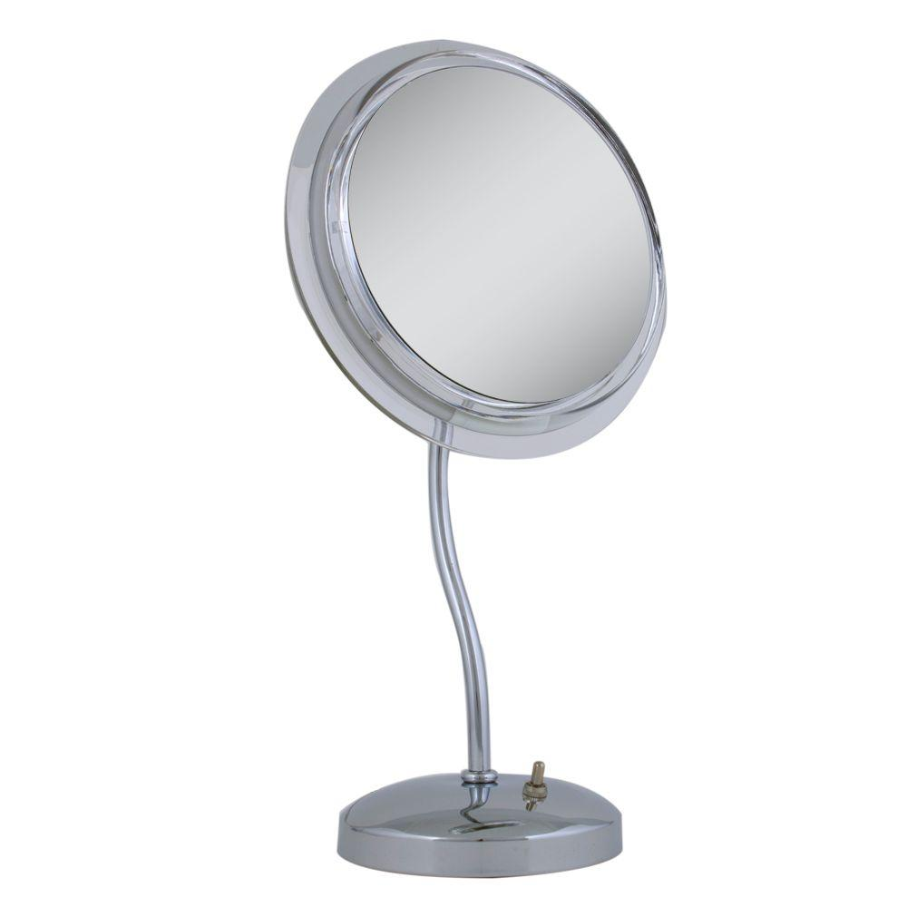 Vanity Mirror With Lights Rental : Zadro Surround Light 6X S-Neck Vanity Mirror in Chrome-SL36 - The Home Depot