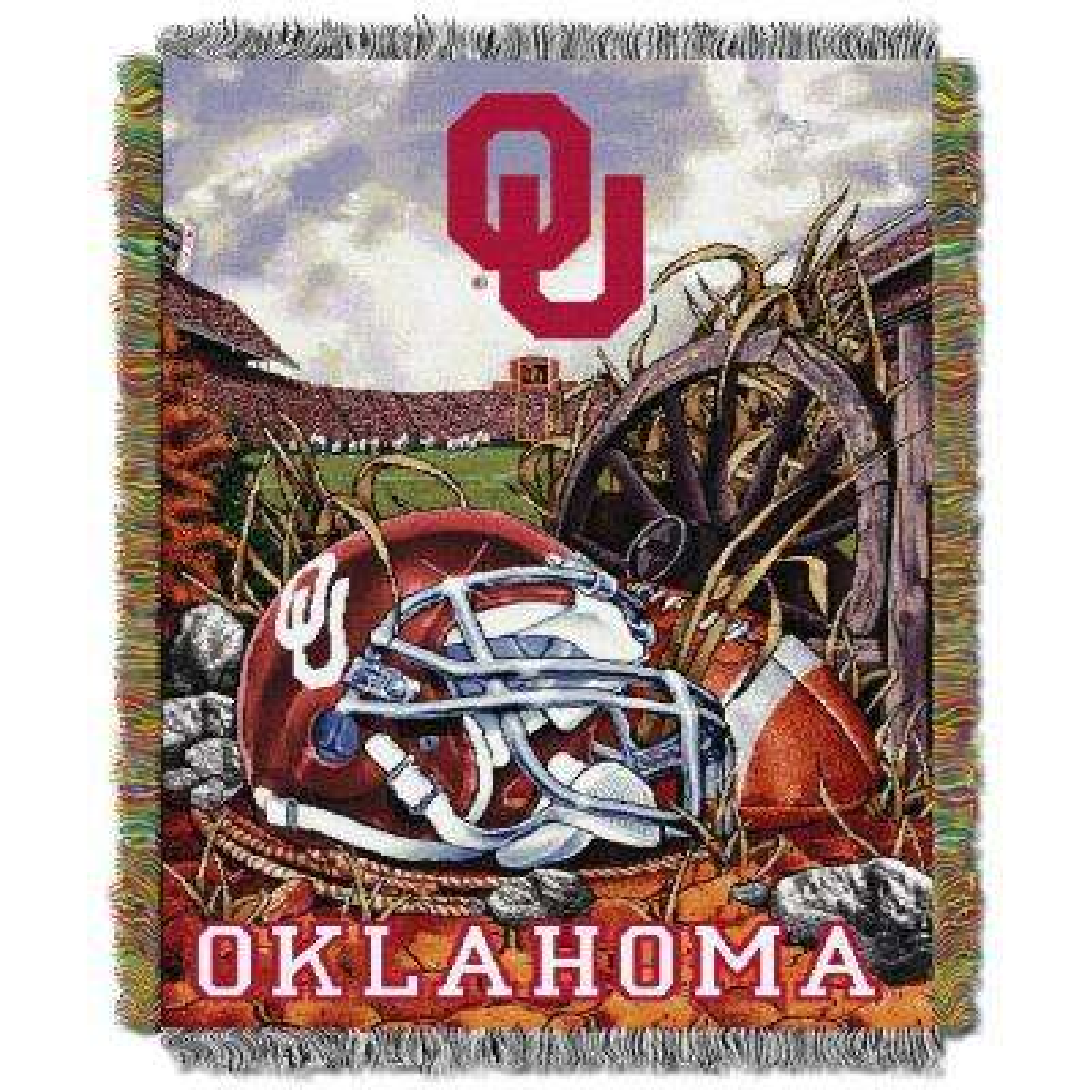 HFA Tapestry Oklahoma Multi Color Throw