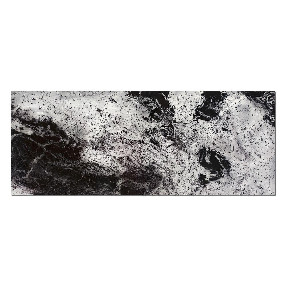 Brevium 19 in. x 48 in. Storm Black and White Metal