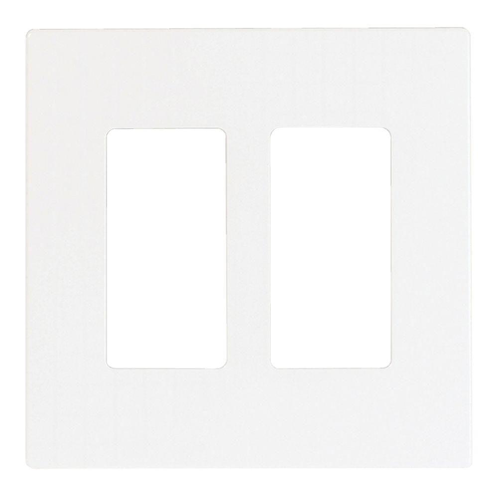 Eaton 2 Switch Decorator Duplex Nylon Wall Plate White