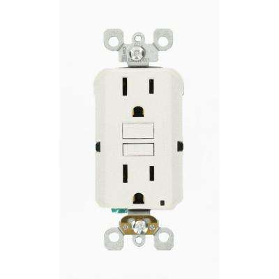 15 Amp 125-Volt Duplex Self-Test Slim GFCI Outlet, White (3-Pack)