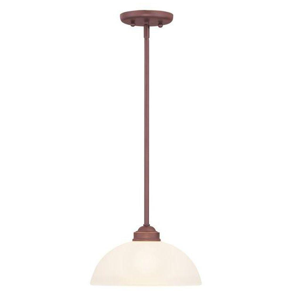 Livex Lighting Providence 1-Light Vintage Bronze Incandescent Pendant