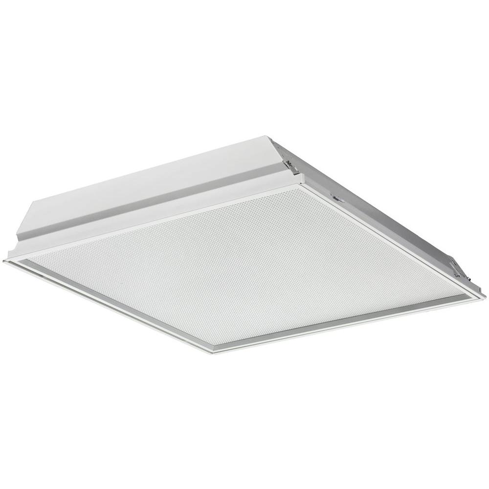 Lithonia Lighting GTLED2 38 -Watt Matte White Integrated LED Troffer