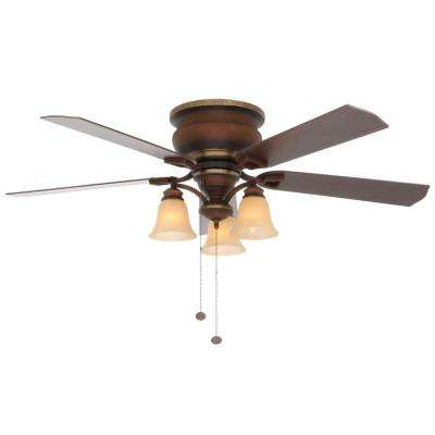 Eastvale 52 in. Indoor Berre Walnut Ceiling Fan with Light Kit