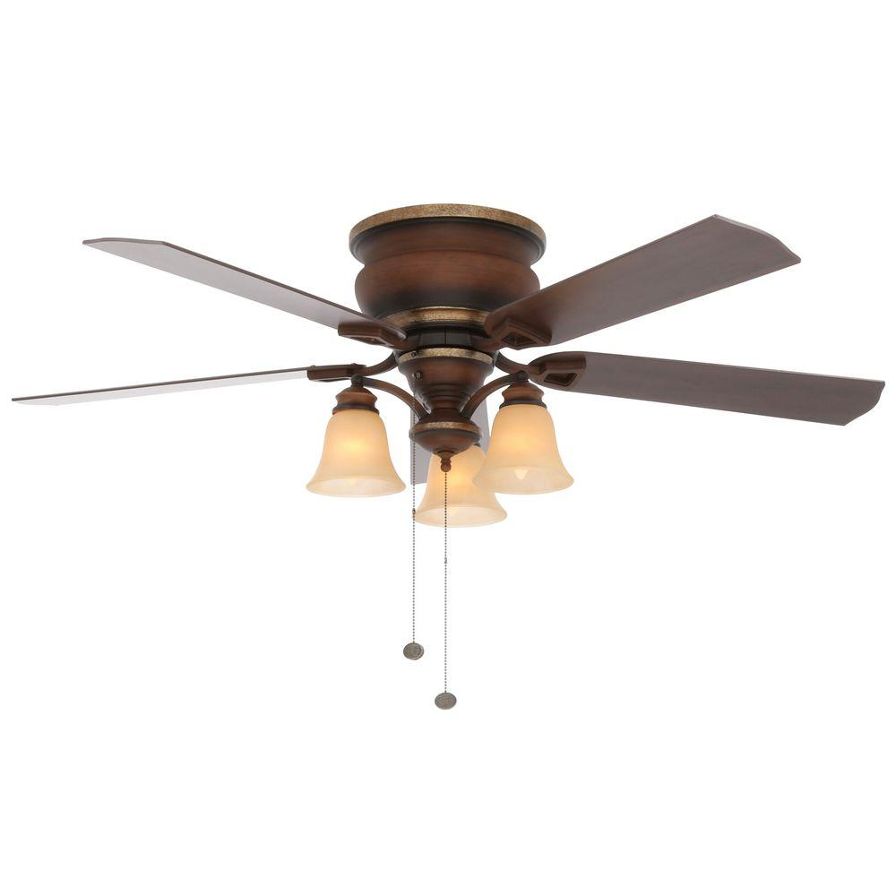 Hampton Bay Ceiling Fans Lighting The Home Depot Industrial Fan Electrical Wiring Diagram Indoor Berre Walnut With Light Kit