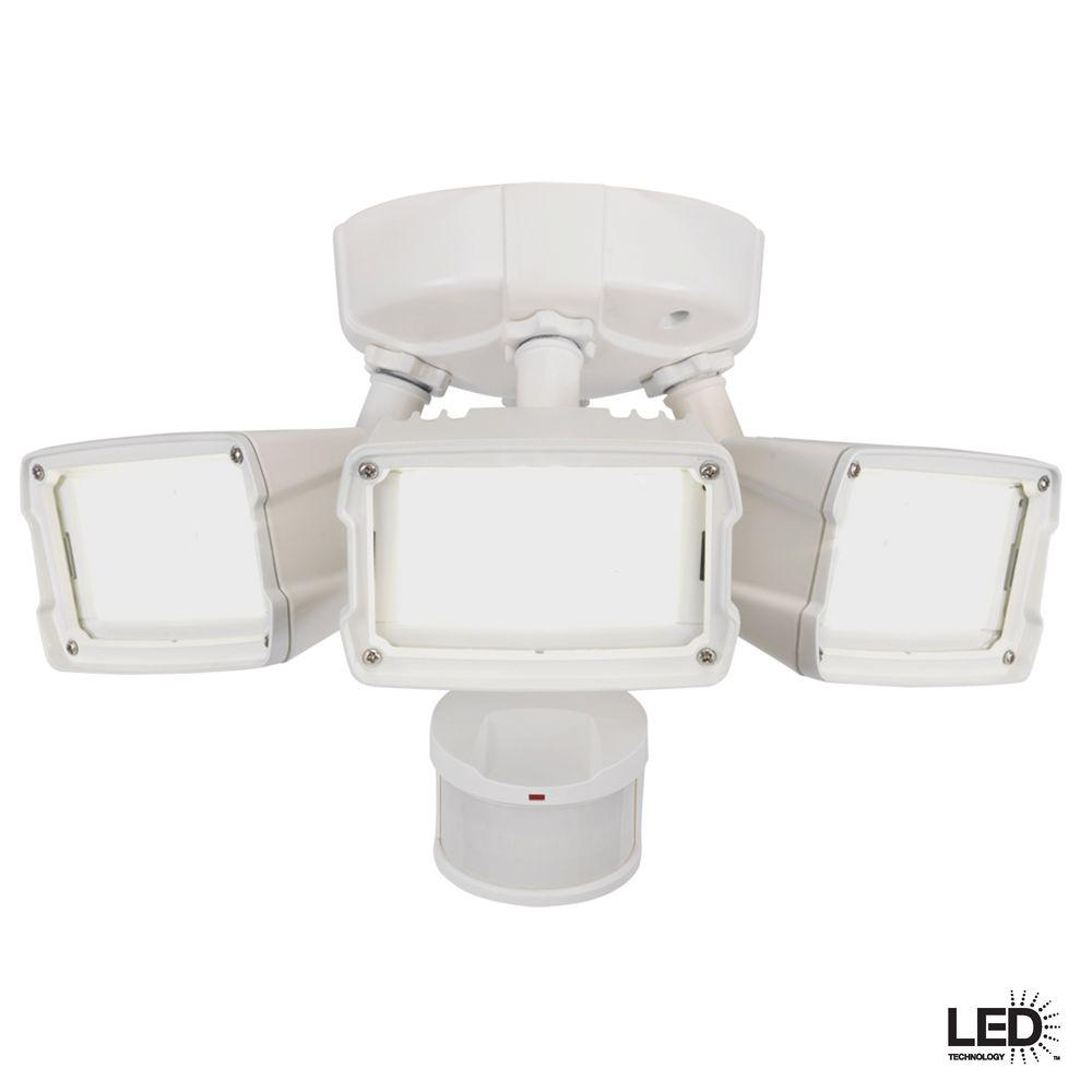 Defiant 270 Degree Motion Outdoor Activated White LED Security Flood Light